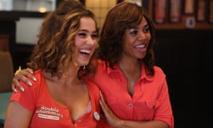 Haley Lu Richardson, left, and Regina Hall in Support the Girls