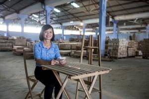 Nguyen Thi Thu Ha, vice director of Minh An processing company.