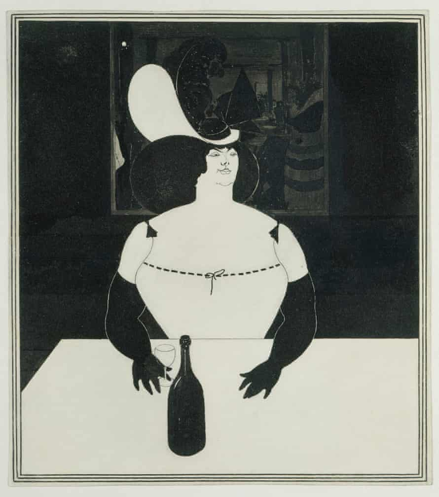 The Fat Woman, 1894 by Aubrey Beardsley.
