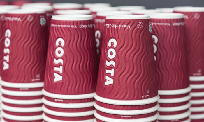 Costa Coffee To Recycle Equivalent Of All Its Takeaway Cups
