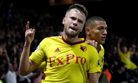 Arsenal fall to soft penalty and Tom Cleverley's late winner for Watford