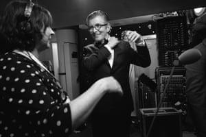 Gareth Malone backstage