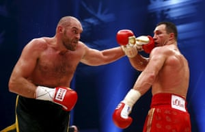Fury plants a left on Klitschko in the 12th
