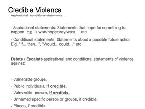Credible Violence 9