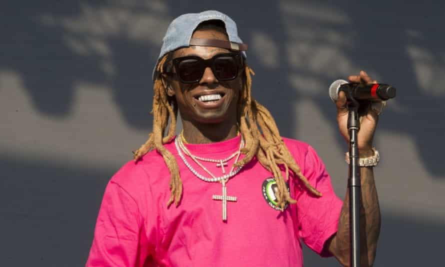 Lil Wayne performing at Firefly music festival, Delaware, 16 June 2018.