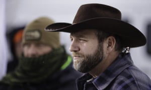 Occupation leader Ammon Bundy at the wildlife refuge near Burns, Oregon, in January.