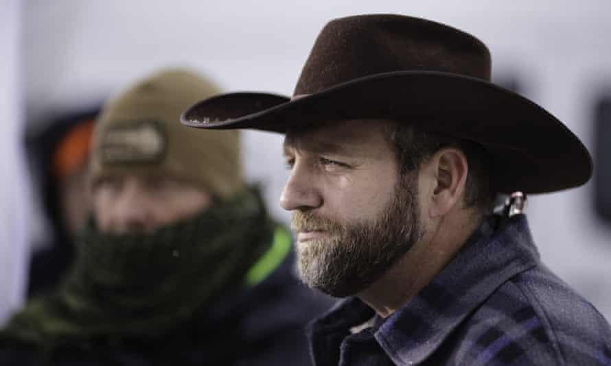 Occupation leader Ammon Bundy at the wildlife refuge near Burns, Oregon, in January.