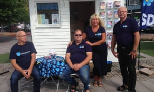 Supporters of Sweden Democrats in Hörby