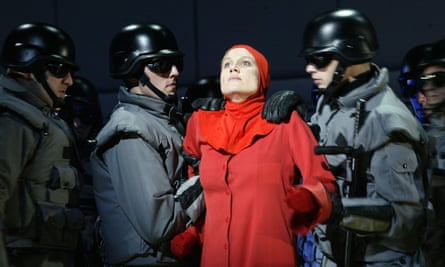 Stephanie Marshall in the 2003 English National Opera staging of The Handmaid's Tale by Margaret Atwood.