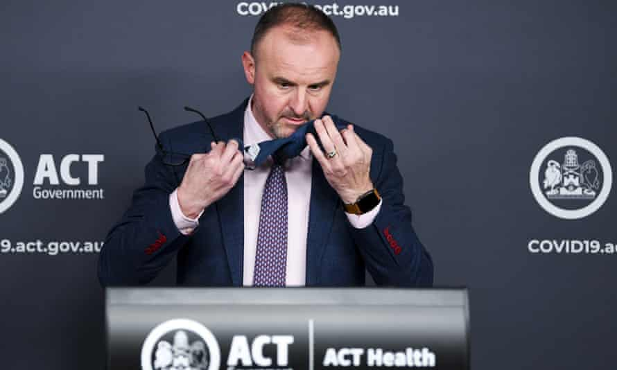 The ACT chief minister Andrew Barr