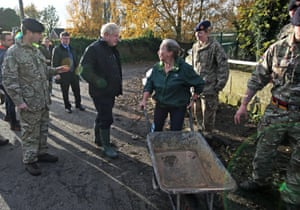 Doncaster, England Prime minister Boris Johnson meets the public during a visit to Stainforth, Doncaster, to see the recent flooding