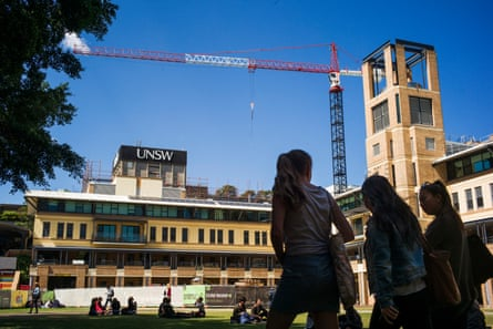 UNSW students on campus.