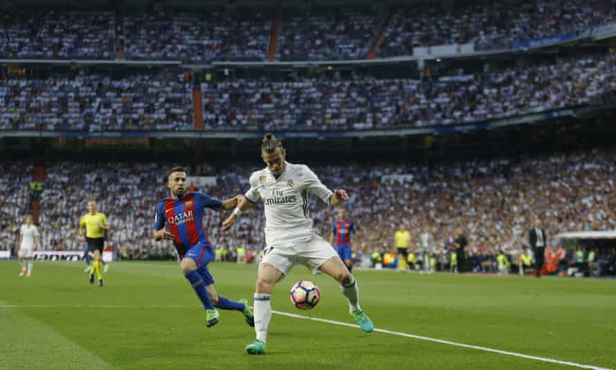 Gareth Bale in action for Real Madrid during their 3-2 defeat to Barcelona on 23 April. The 27-year-old has not played since then