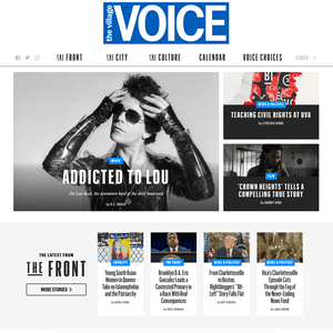 The Village Voice website, on Tuesday.