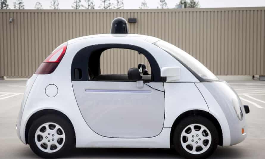 Google's two-seat self-driving prototype car