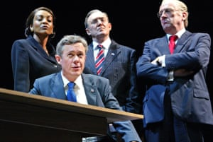 Alex Jennings, Adjoa Andoh, Dermot Crowley and Desmond Barrit in Stuff Happens.