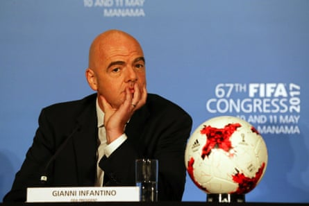 Fifa president Gianni Infantino at the 67th Fifa Congress 2017 in Manama in May 2017.