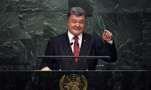 Petro Poroshenko, President of Ukraine un