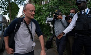 Dominic Cummings  arrives back at his house after being in Downing Street