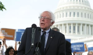 Bernie Sanders told the crowd: 'This is not a red or a blue issue. There is no excuse for failure. This is the biggest test facing human civilization and we have to respond and win this battle.'