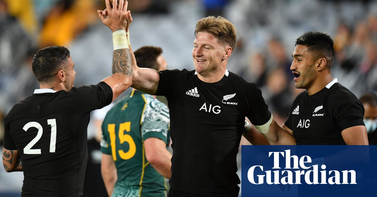 All Blacks inflict record defeat on Wallabies to retain Bledisloe Cup in Tri-Nations opener
