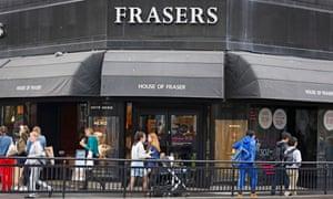The House of Fraser store in Edinburgh, Scotland.