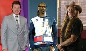 Marijuana business backers: Nick Lachey, Snoop Dogg and Willie Nelson.