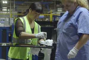 'The fumbling of two cultures trying to get to know each other was charming' … workers on the factory floor.