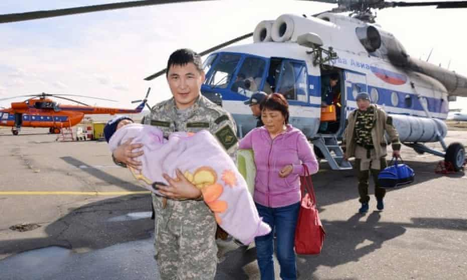 Three-year-old Tserin Dopchut was rescued after wandering off and surviving alone for three days in a forest in the remote and inhospitable Russian region of Siberia.