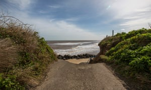 At Happisburgh, Norfolk, the North Sea is once again encroaching on the land.