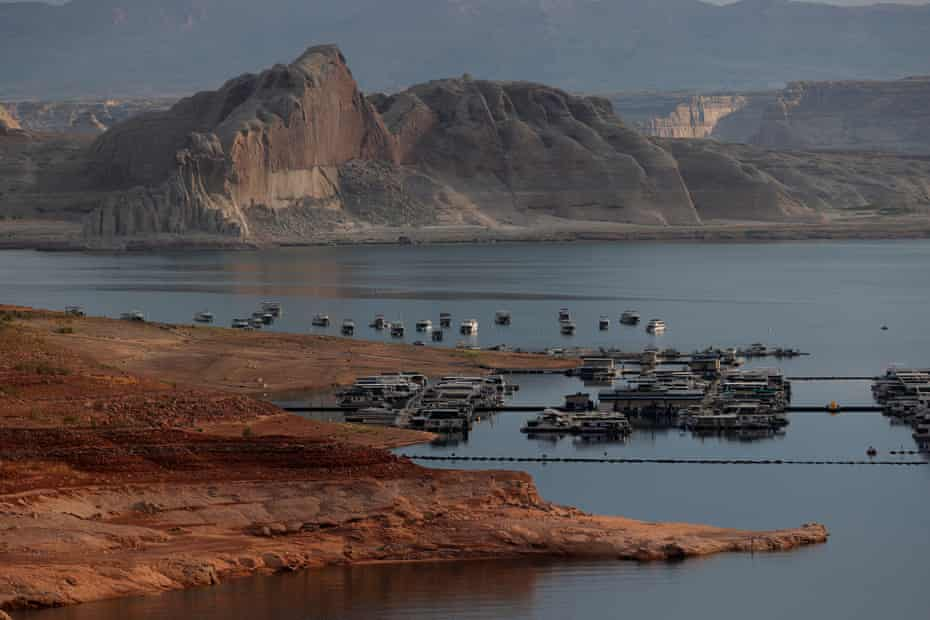 The giant reservoir is currently three-quarters empty and will keep dropping at least through next spring due to record low snowpack levels in the Colorado River basin.