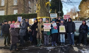 Sheffield tree protesters pictured in February last year.