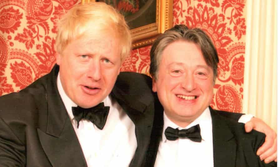 Boris Johnson pictured with Alexander Temerko, who has given more than £1.3m to the Conservative party.