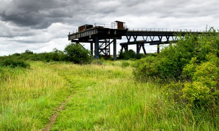 The remains of the Occidental Petroleum jetty on Canvey Island in Essex.