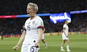 Megan Rapinoe's comments come after a week in which she has become involved in an online war of words with the US president, Donald Trump.