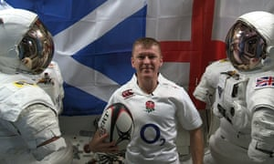Peake performance: British astronaut Tim Peak packed his England rugby shirt for his journey into space.