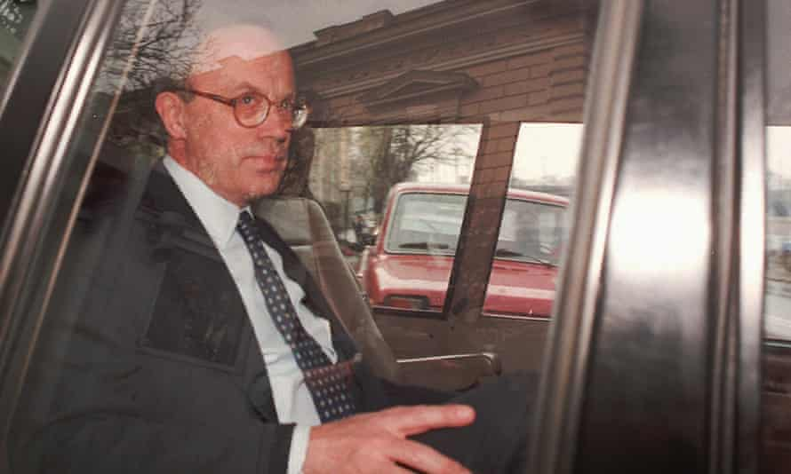Sir Andrew Wood pictured in Moscow in 1996, when he was the British ambassador in the city.