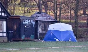Crime scene at Finsbury Park.