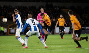 Ruben Neves Wolves second goal with a fierce shot.