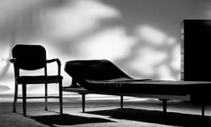 Psychiatrist's couch and chair