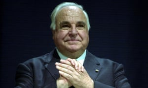 Helmut Kohl at a ceremony in Stuttgart in 2001 celebrating the 11th anniversary of German reunification