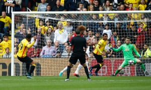Étienne Capoue opens the scoring for Watford.