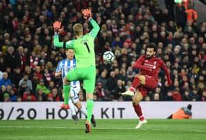 Mohammed Salah won Jonas Los for the third.