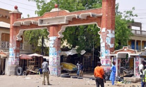The main gate to the Monday Market in Maiduguri, March 2015.