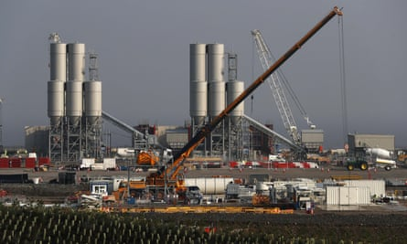 Hinkley Point C nuclear power station under construction.