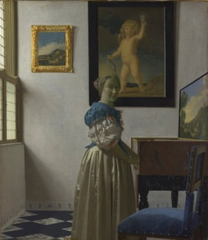 Vermeer, A Young Woman Standing at a Virginal