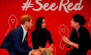 Prince Harry and Meghan Markle at a World Aids Day charity fair staged by the Terrence Higgins Trust in Nottingham.