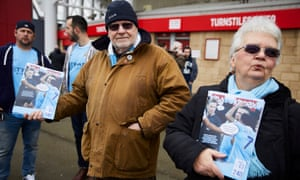 """Manchester City fanzine """"King of the Kippax"""" on sale outside the Riverside."""
