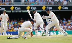 Alastair Cook takes a smart catch to dismiss Nathan Lyon.