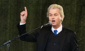 Dutch right-wing Freedom party leader, Geert Wilders.